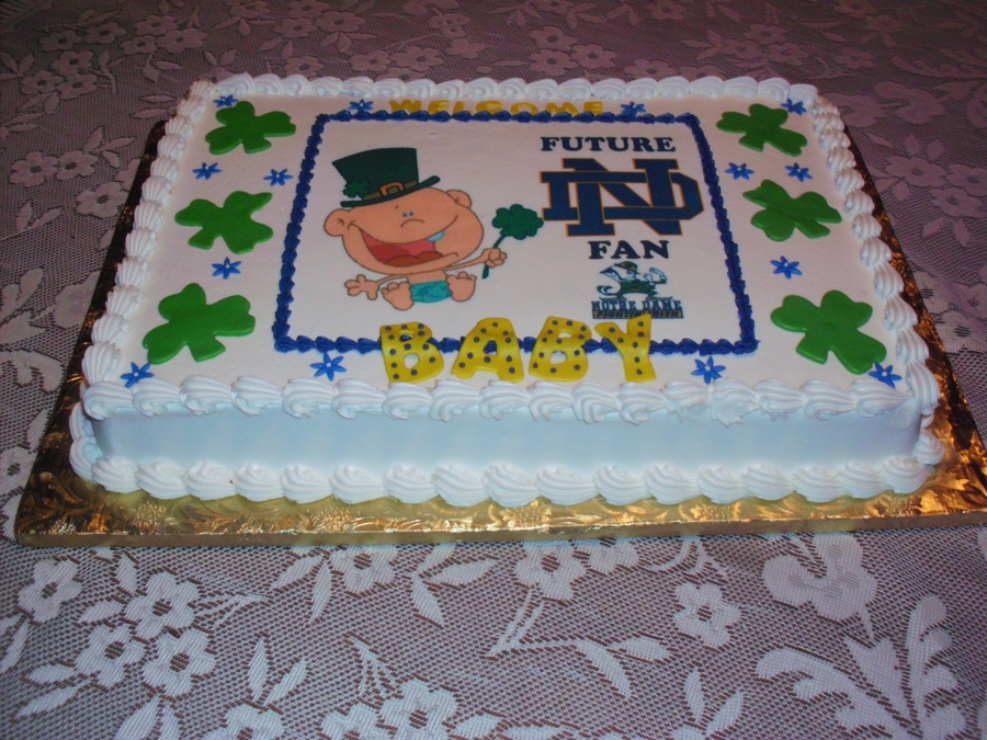 Notre Dame Baby Shower Cake on Cake Central