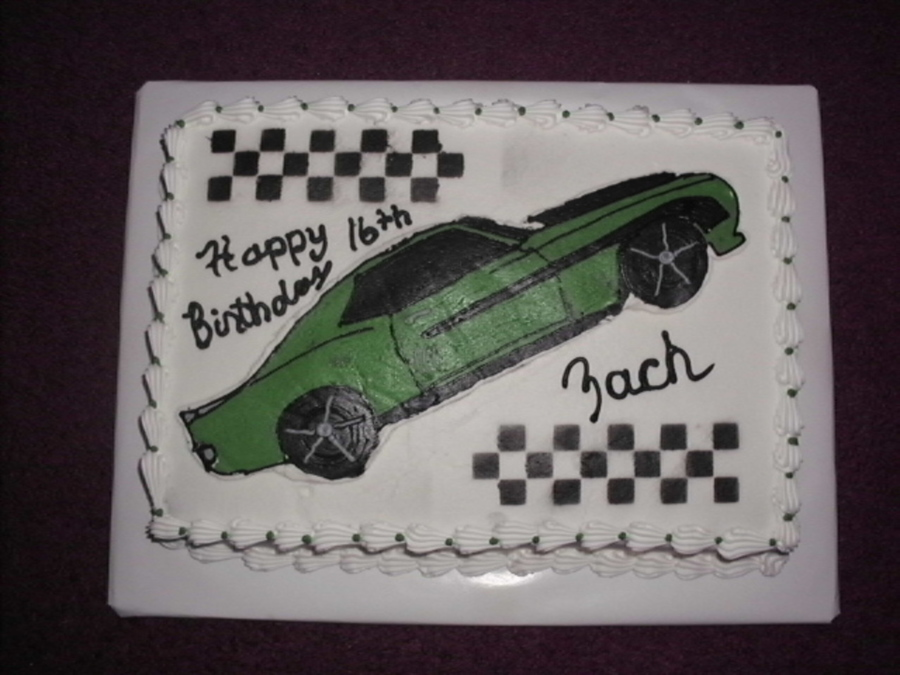 Camaro Birthday Cake on Cake Central