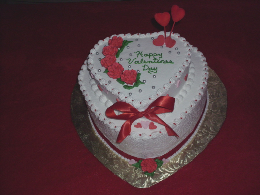 Valentine's Day Heart on Cake Central