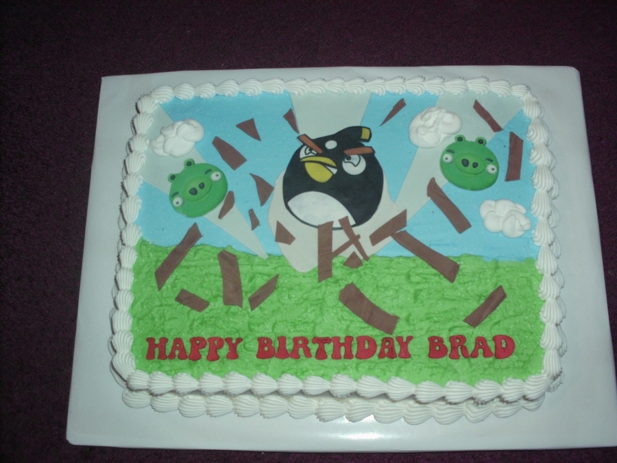 Black Angry Bird Cake on Cake Central