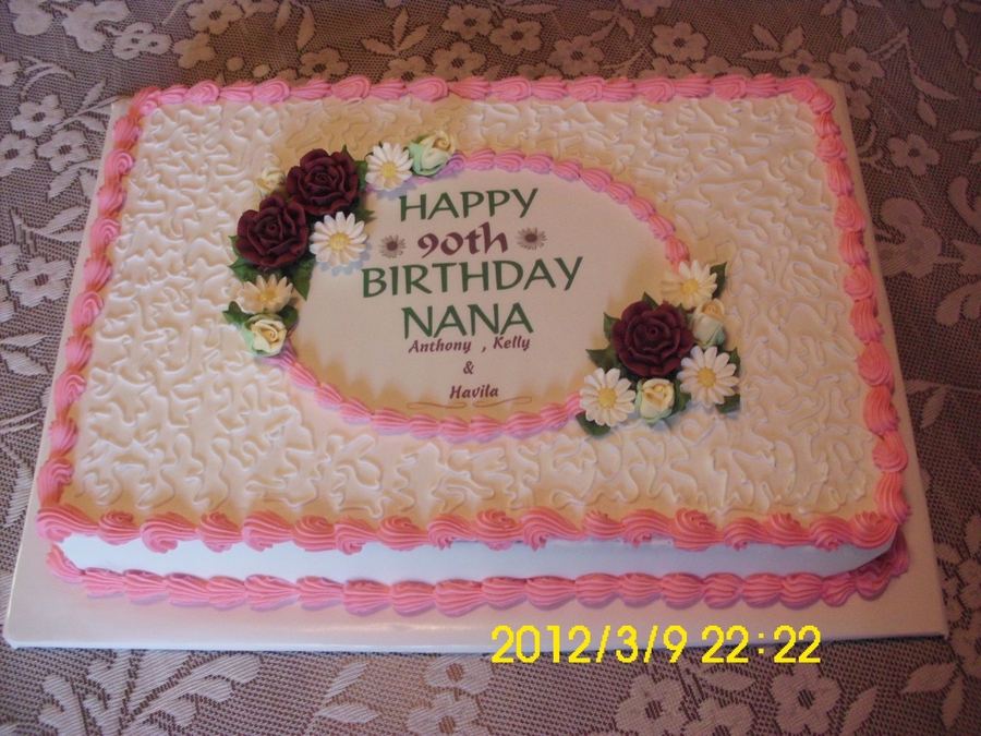 90Th Birthday Cake on Cake Central