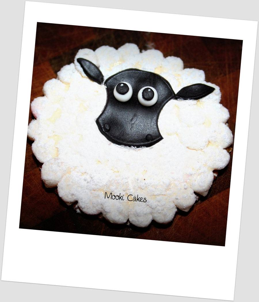 Marshmallow Sheep Cookie on Cake Central