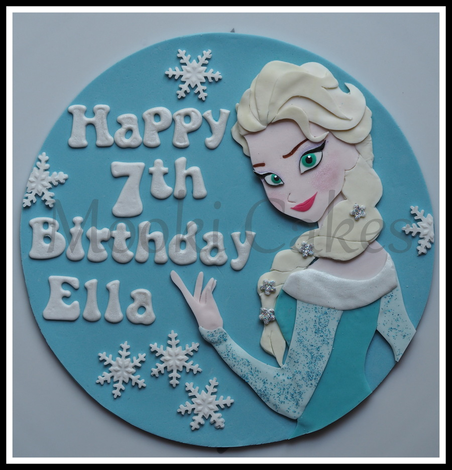 Frozen Elsa Fondant Cake Topper On Central