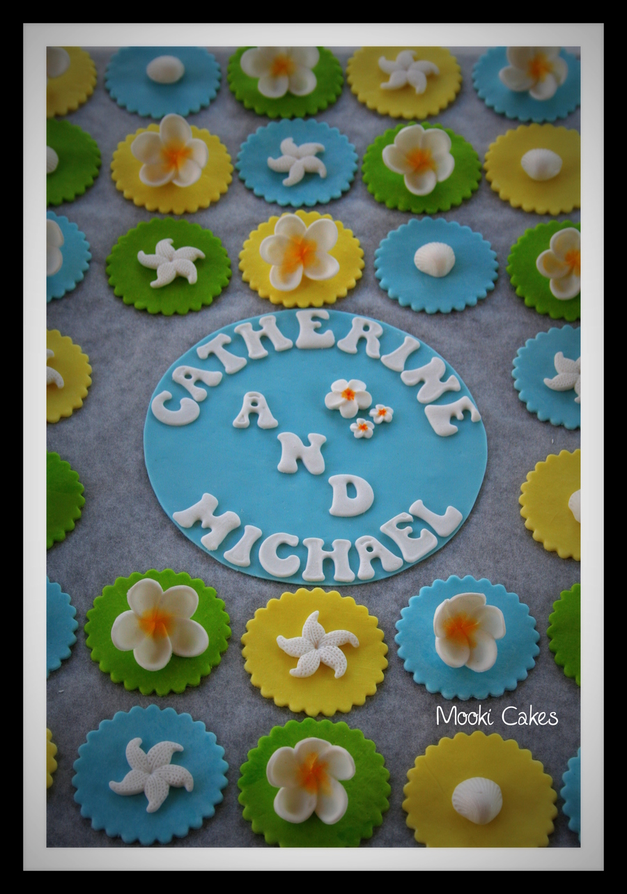 Beach Themed Cupcake Decorations  on Cake Central