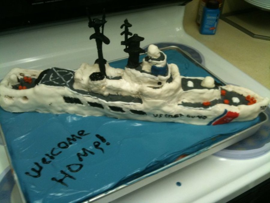 Coast Guard Cutter Cake  on Cake Central