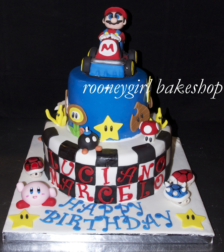 Super Mariokart Birthday Cake By Rooneygirl Bakeshop on Cake Central