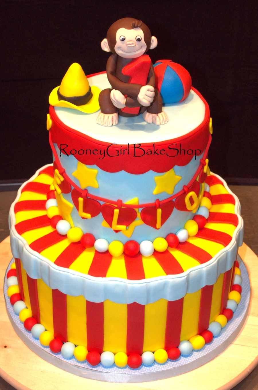 Wondrous Curious George 1St Birthday Cake Cakecentral Com Personalised Birthday Cards Paralily Jamesorg