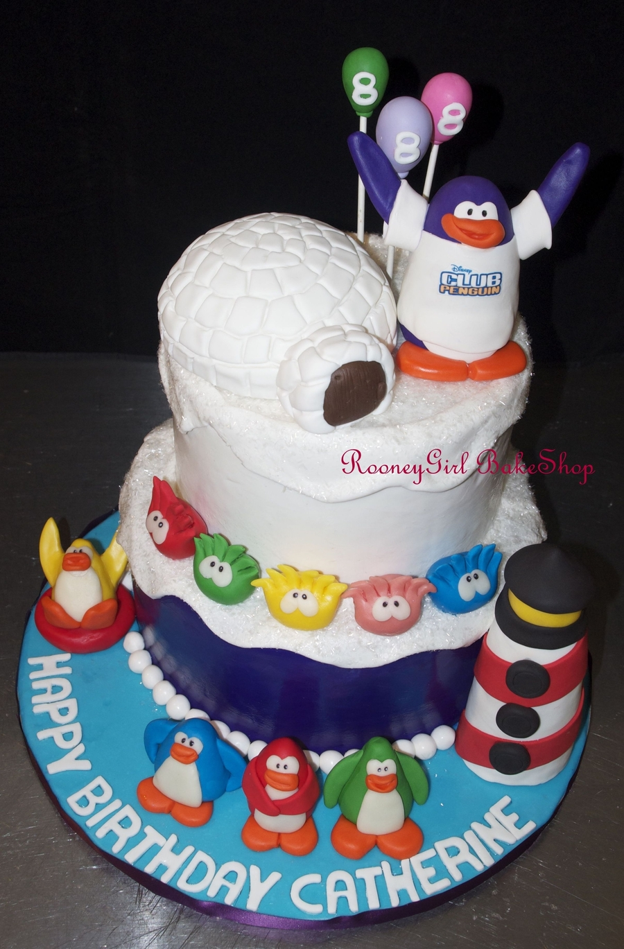 Club Penguin Birthday Cake on Cake Central
