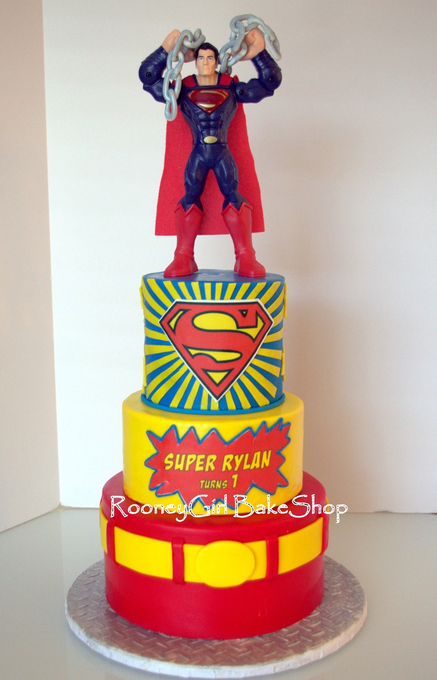 Superman Edible Cake Images : Superman Birthday Cake - CakeCentral.com