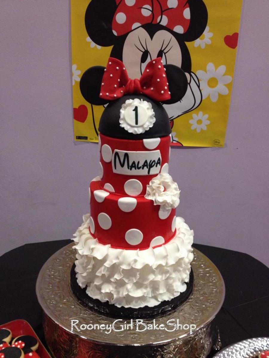 Fantastic Minnie Mouse 1St Birthday Cake Cakecentral Com Funny Birthday Cards Online Overcheapnameinfo