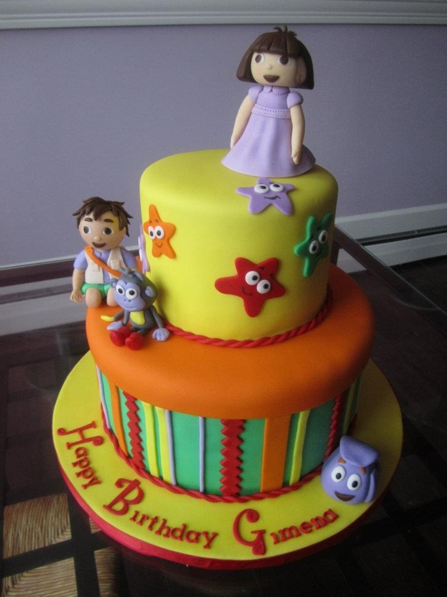 Dora Cake From Sweet Discoveries on Cake Central