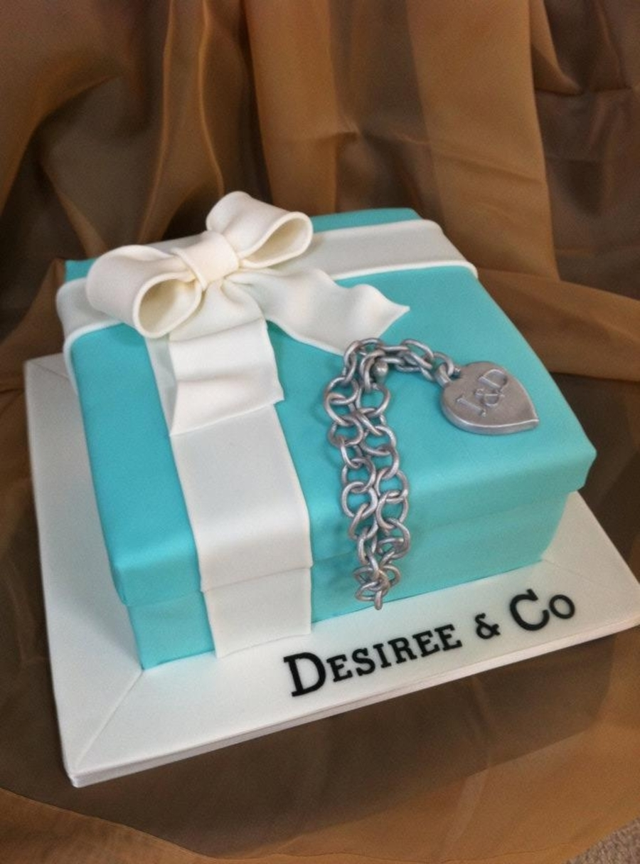 Tiffany Box Cake From Sweet Discoveries on Cake Central