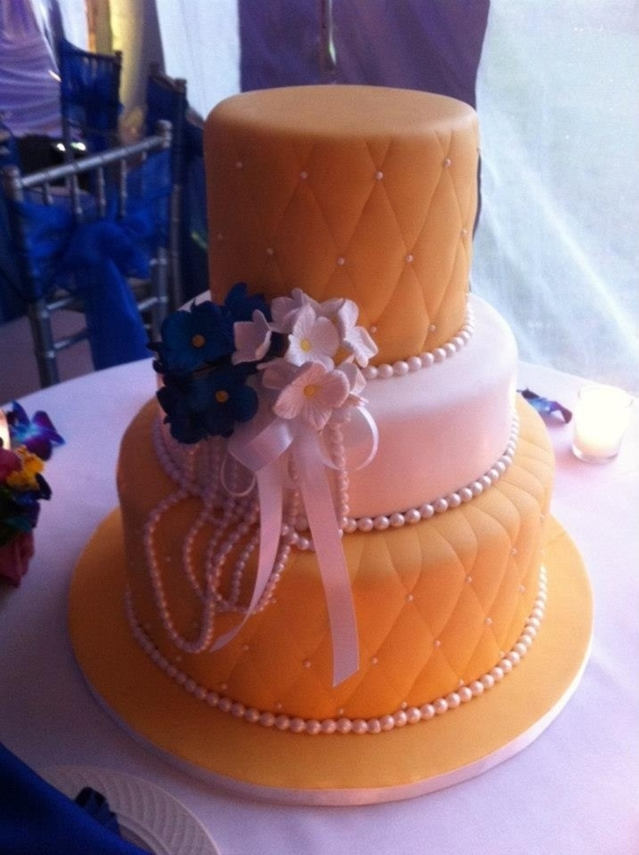 Yellow Bride on Cake Central