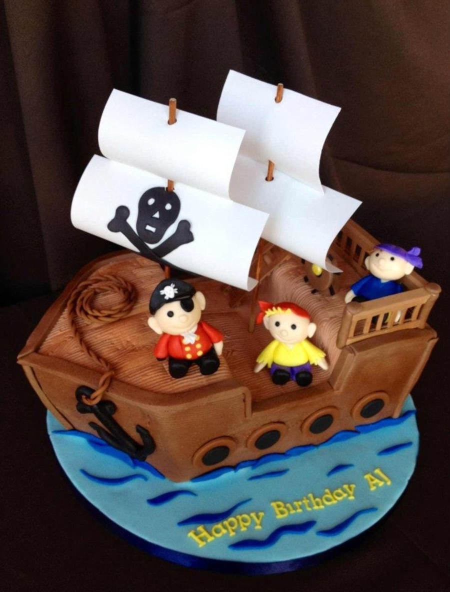 Pirate Cake From Sweet Discoveries  on Cake Central