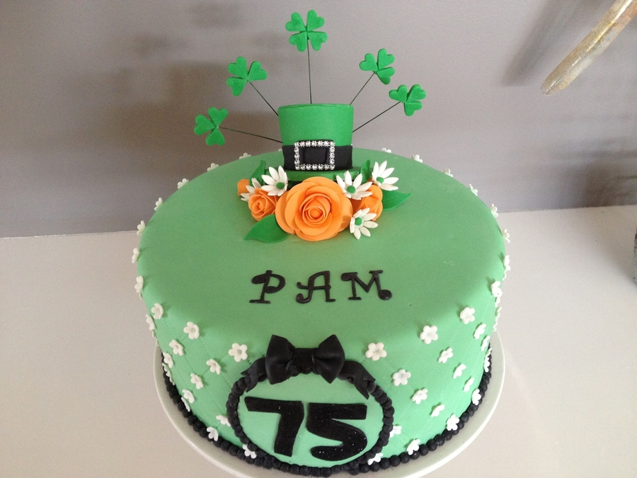 Irish Themed Birthday Cake Cakecentral Com