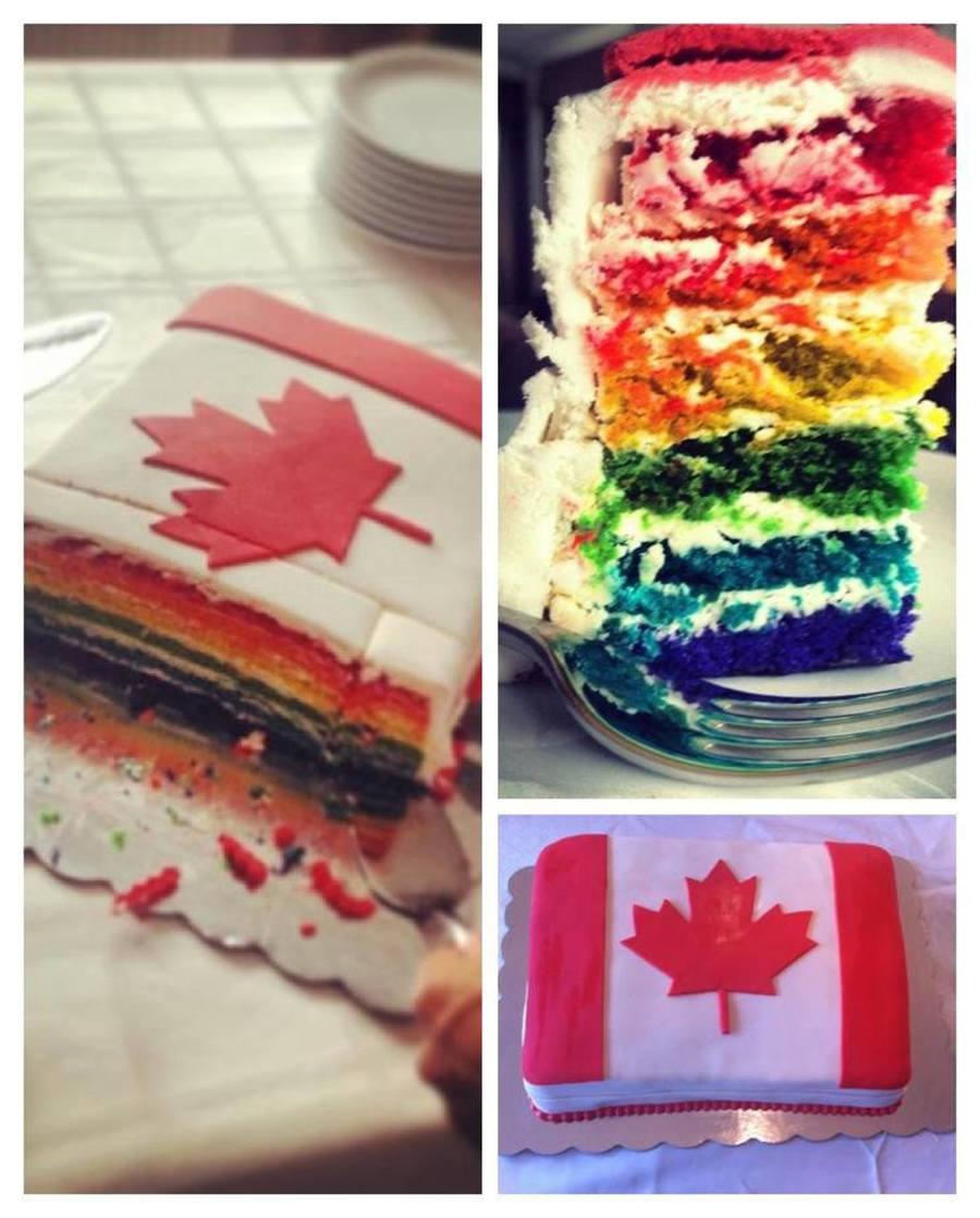 Rainbow Cake Made On Gay Pride Weekend For A Canadian Embassy  on Cake Central