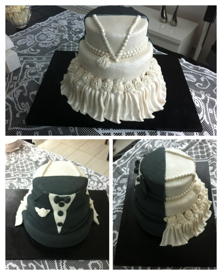Wedding Gown Cakes: Wedding Cake I Made For My Sisters Wedding