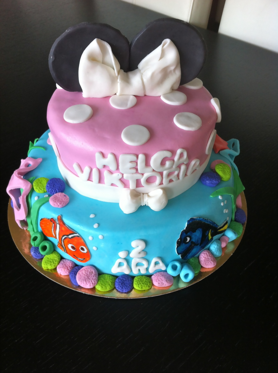 Nemo & Minnie Mouse Cake on Cake Central