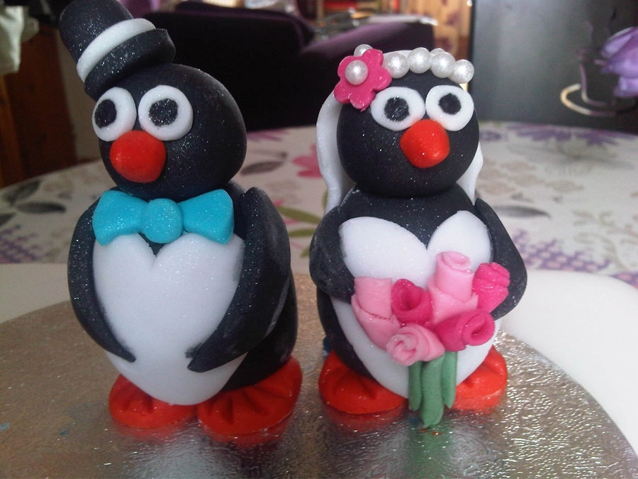Penguin Bride And Groom on Cake Central
