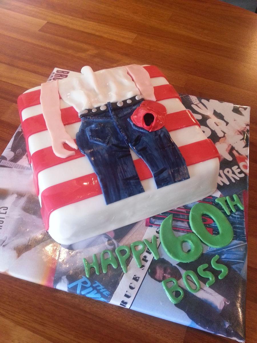 Bruce Springsteen Cake For 60th Birthday The Boss
