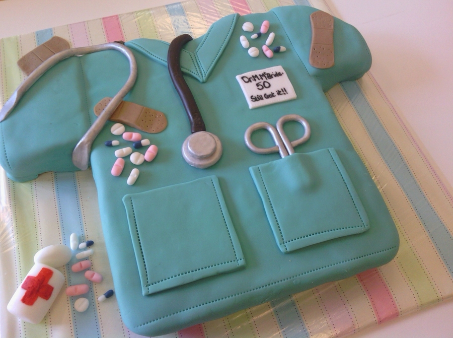 Doctors Scrubs 5Oth Birthday Cake CakeCentralcom