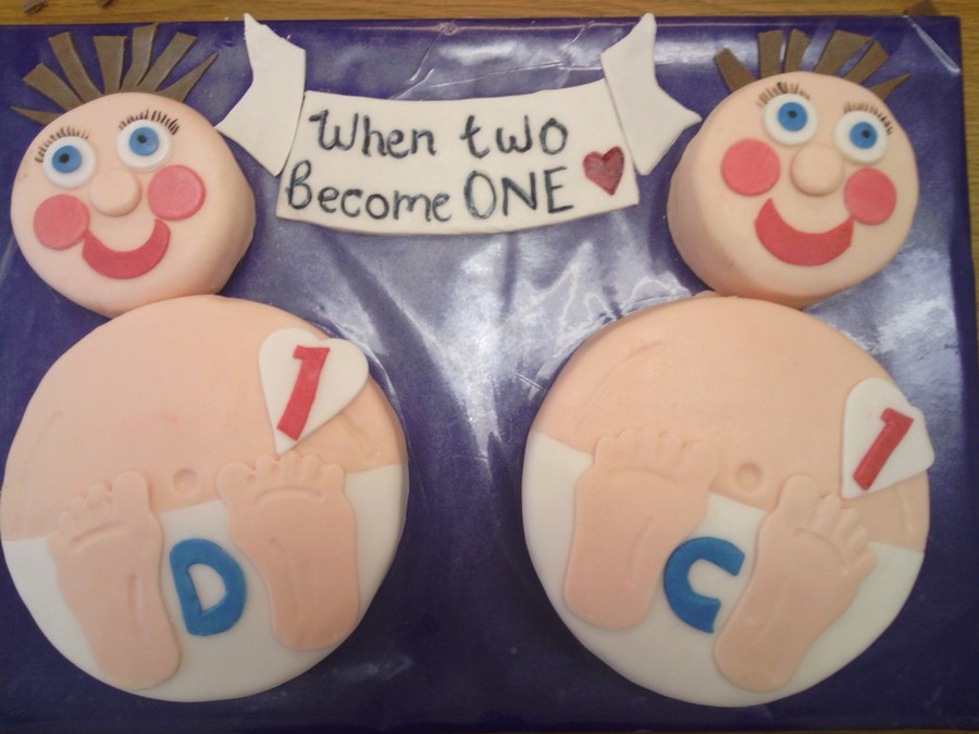 Twin Boys First Birthday Cake Cakecentral Com