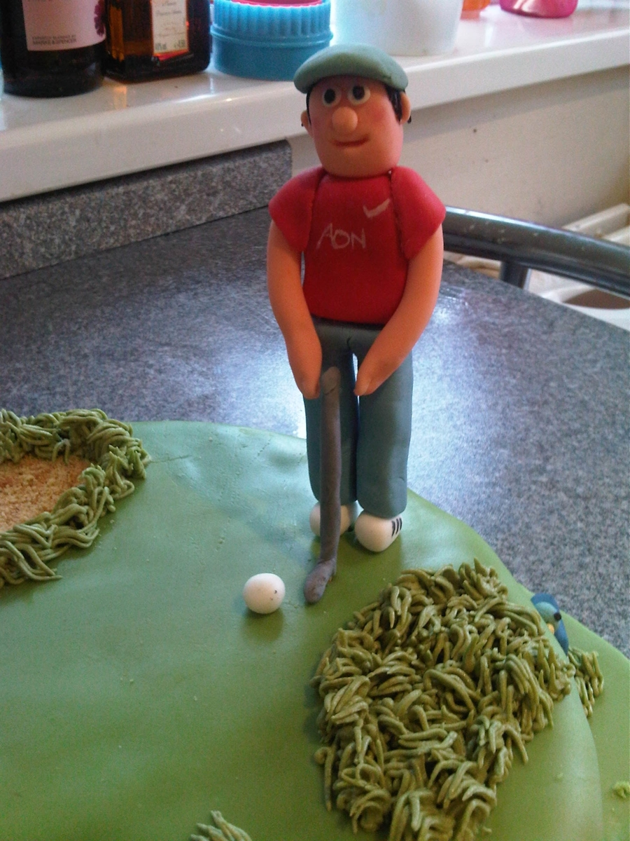 Cake Decorating Golf Figures : Golf 40Th Birthday Cake With Standing Figure/person, With ...