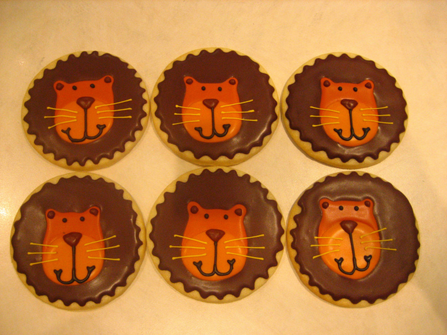 Lion Cookies on Cake Central