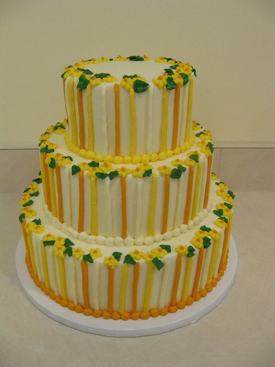 Orange And Yellow Stripes  on Cake Central
