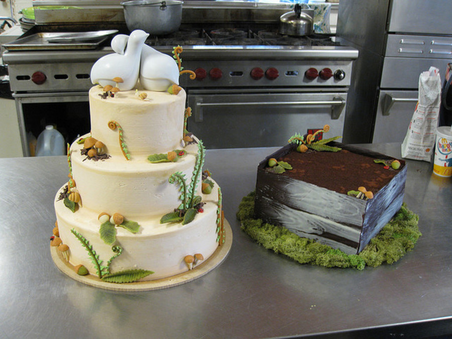 Woodland Wedding And Groom's Cake on Cake Central