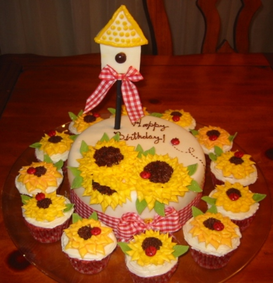 Country Sumflowers on Cake Central