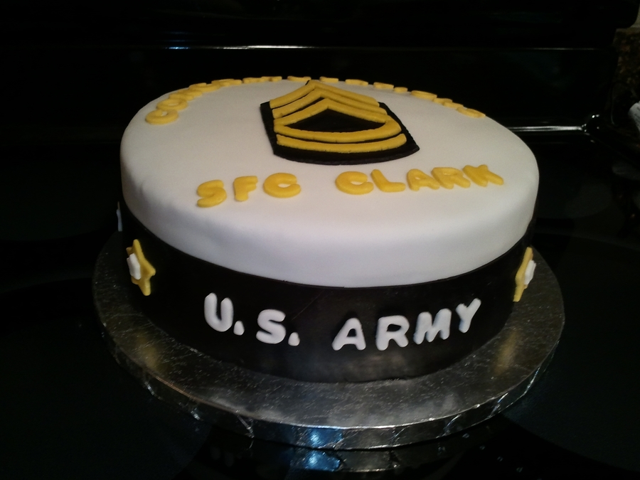 Army Promotion Cake Cakecentral Com