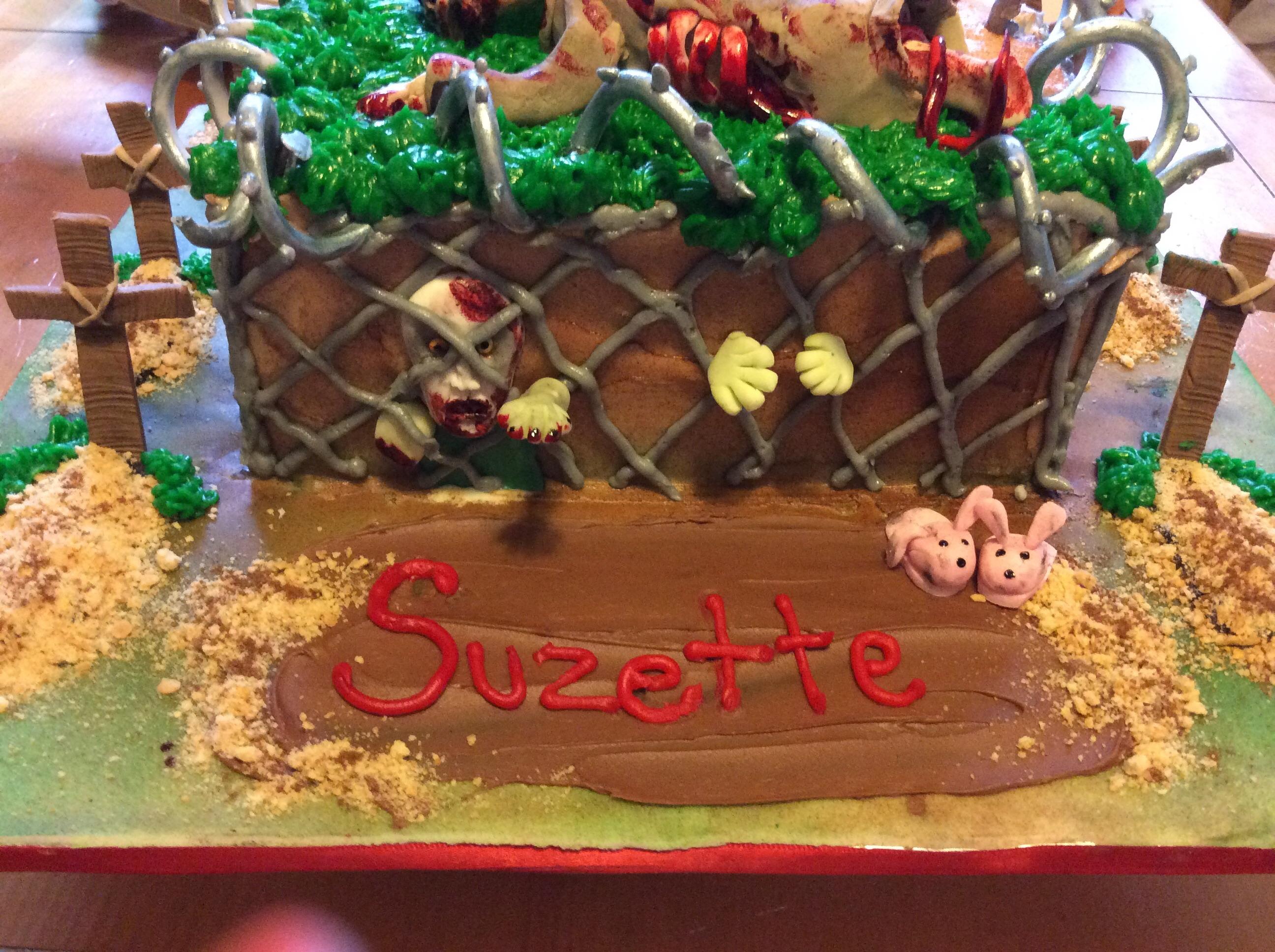 Sensational Walking Dead Birthday Cake Cakecentral Com Funny Birthday Cards Online Fluifree Goldxyz
