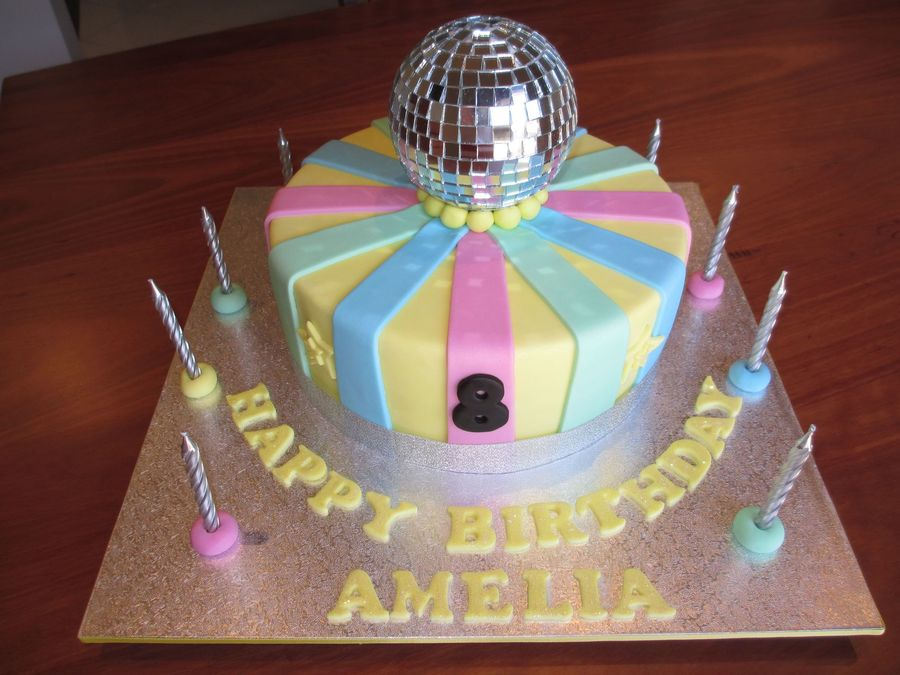 ... Chocolate Ganache Disco Girls 8 Year Old Birthday Cake on Cake Central