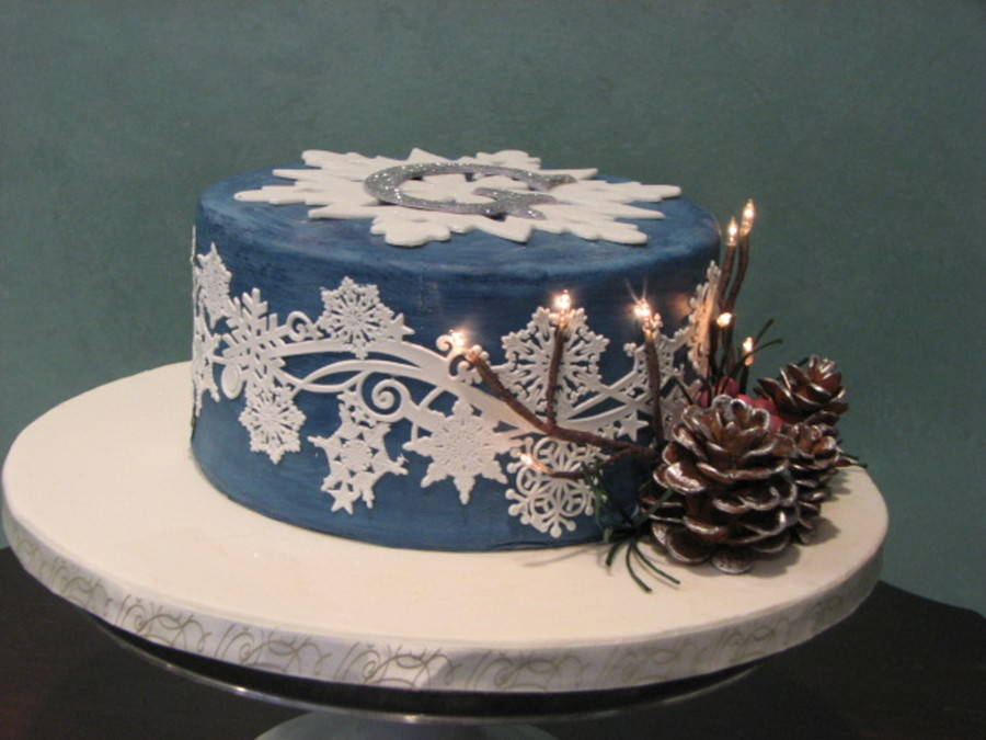 Sweet 16 Birthday Cake Winter Wonderland Theme Cakecentral