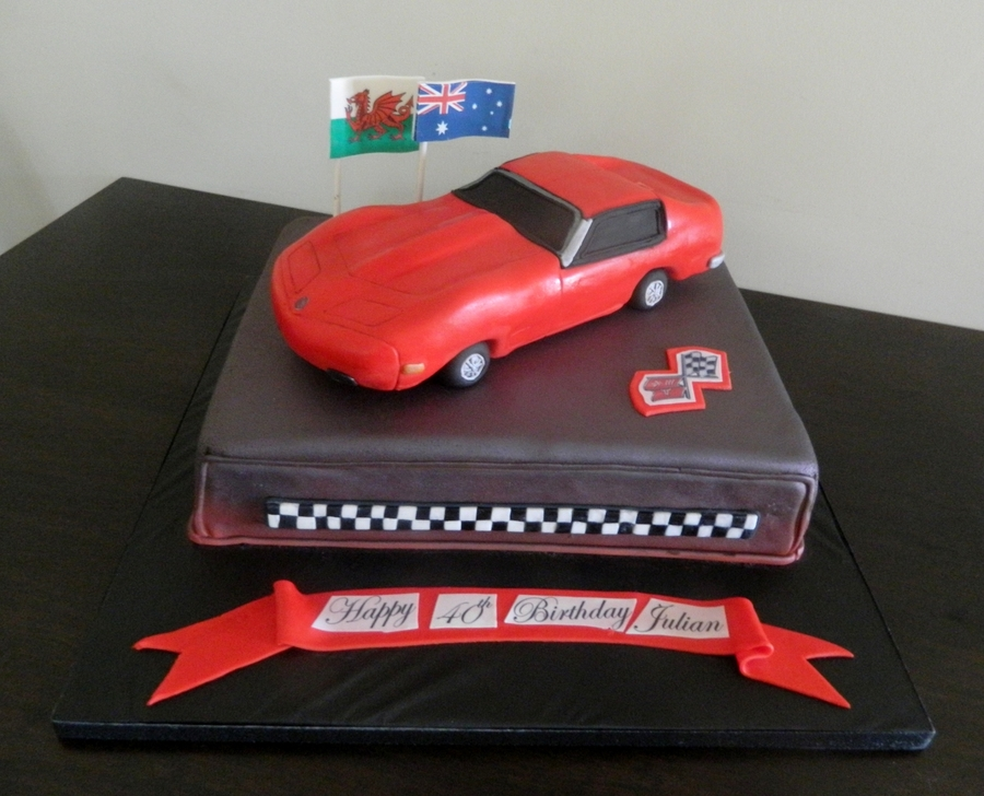Red Corvette on Cake Central