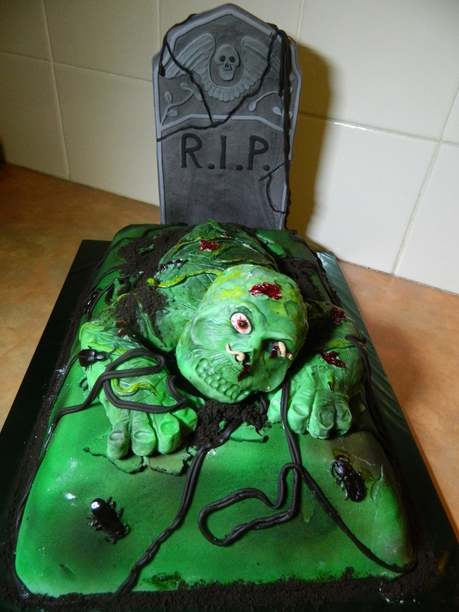 Zombie Grave Cake on Cake Central