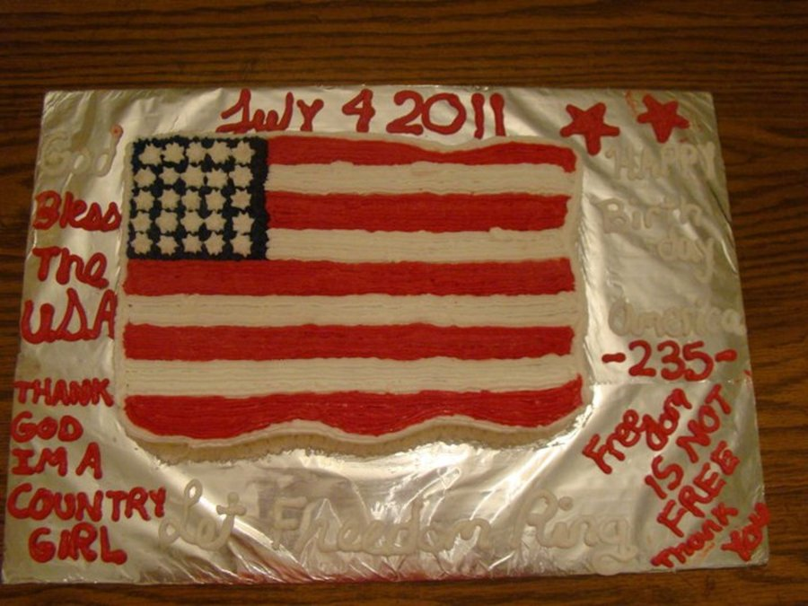 Wave Your Flag  on Cake Central