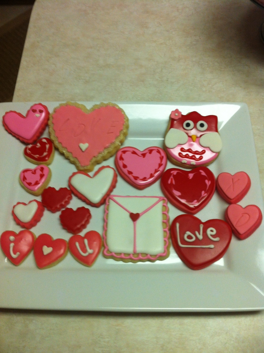 Valentine Cookies. Sugar Cookies With Glaze on Cake Central