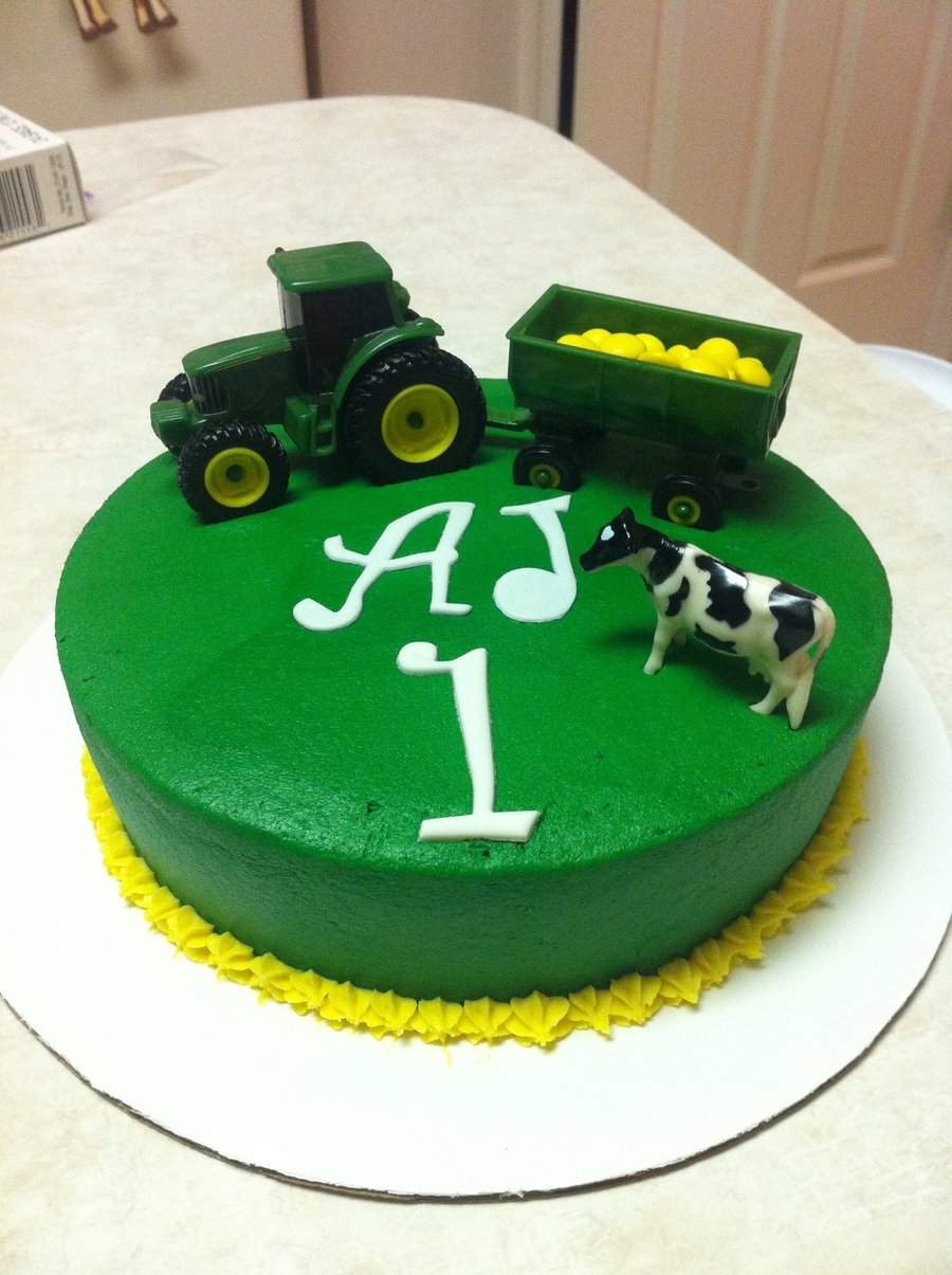 John Deere Farm Animal Smash Cake Cakecentral Com