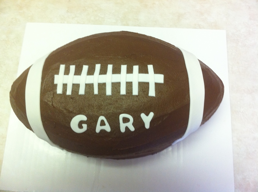 Chocolate Fudge Football Cake on Cake Central
