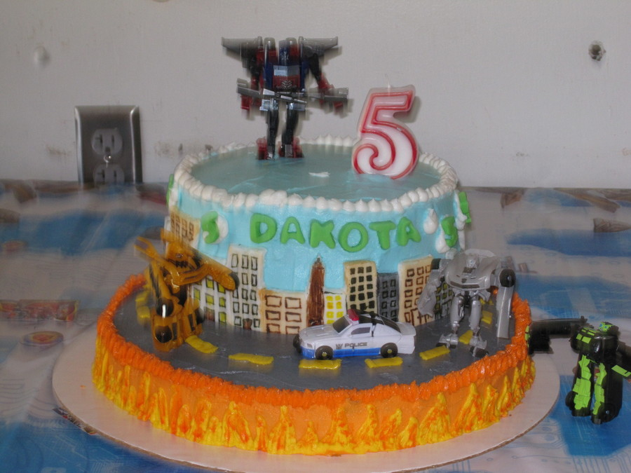 Transformers Birthday Cake on Cake Central