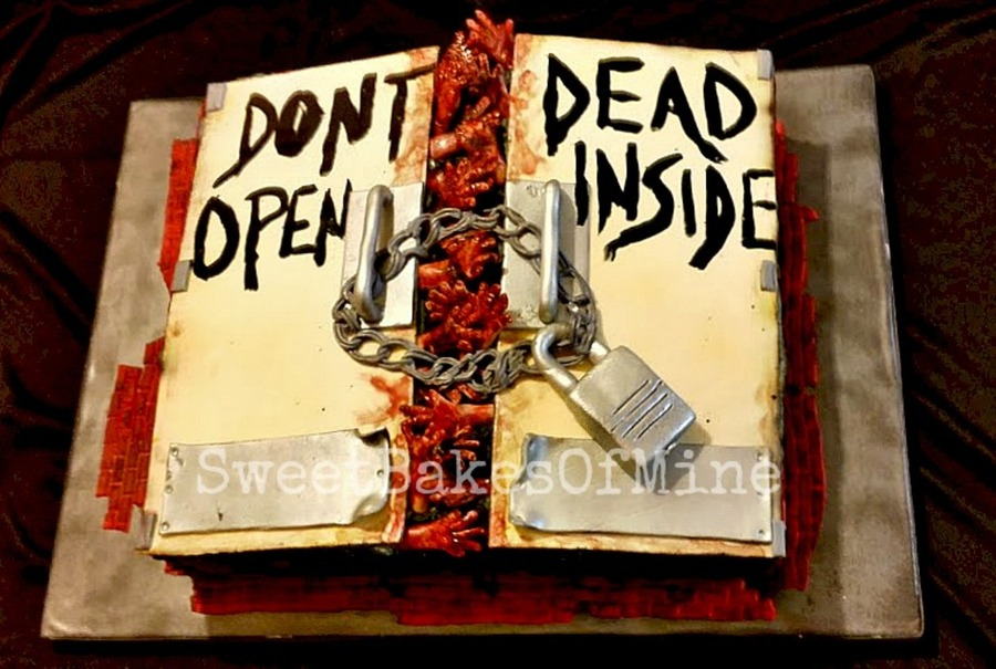 Walking Dead Don T Open Dead Inside Birthday Cake