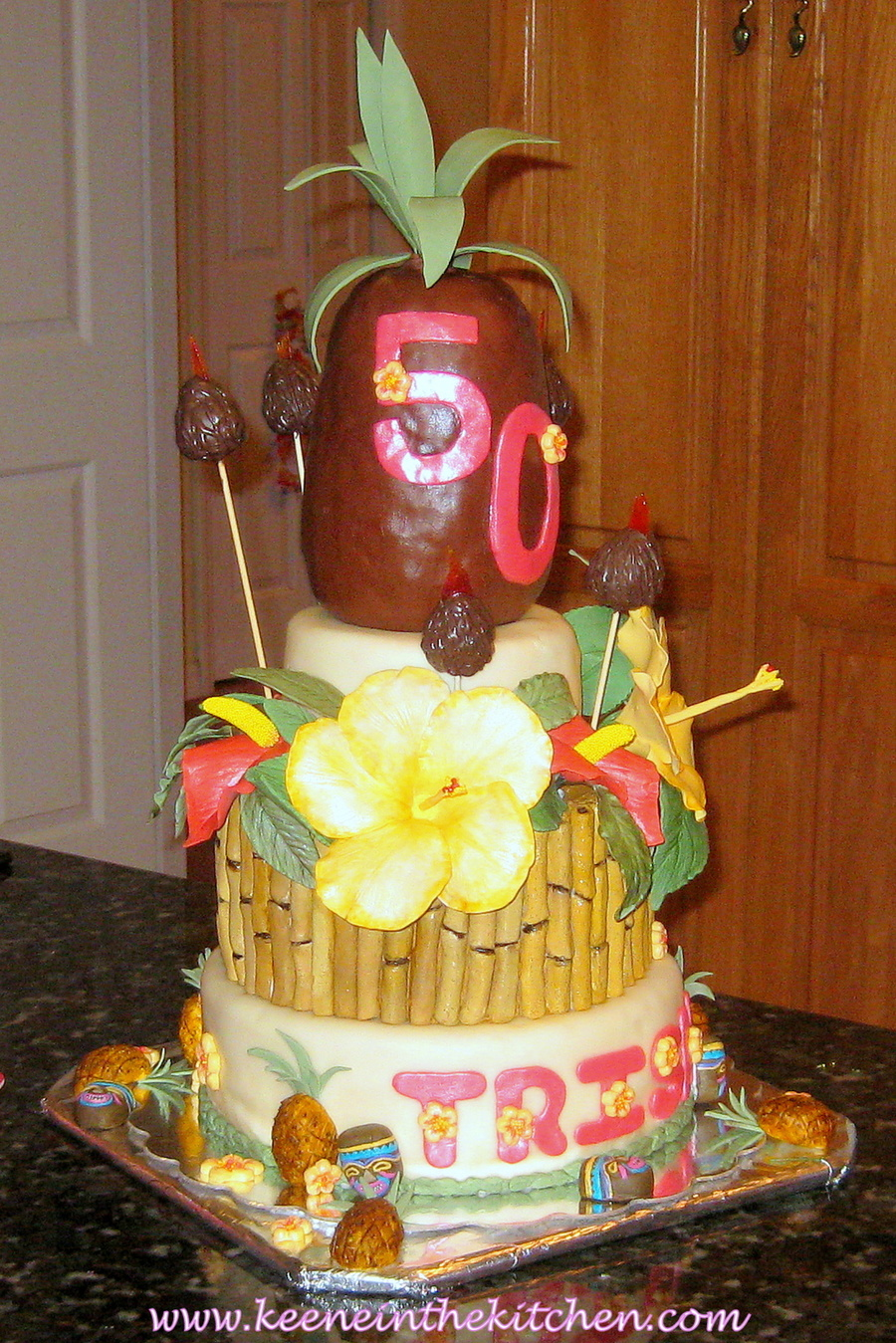 Hawaiian Themed 50th Birthday Cake Cakecentral Com
