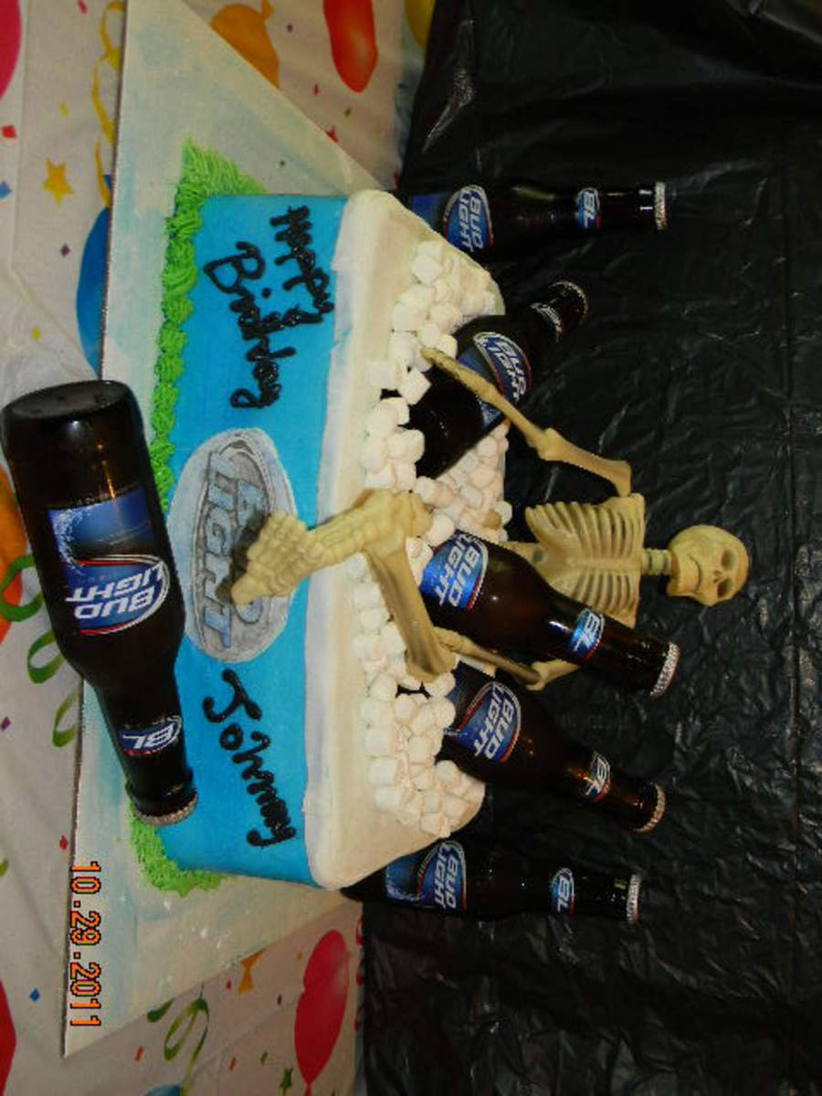 Bud Light Ice Chest - CakeCentral com