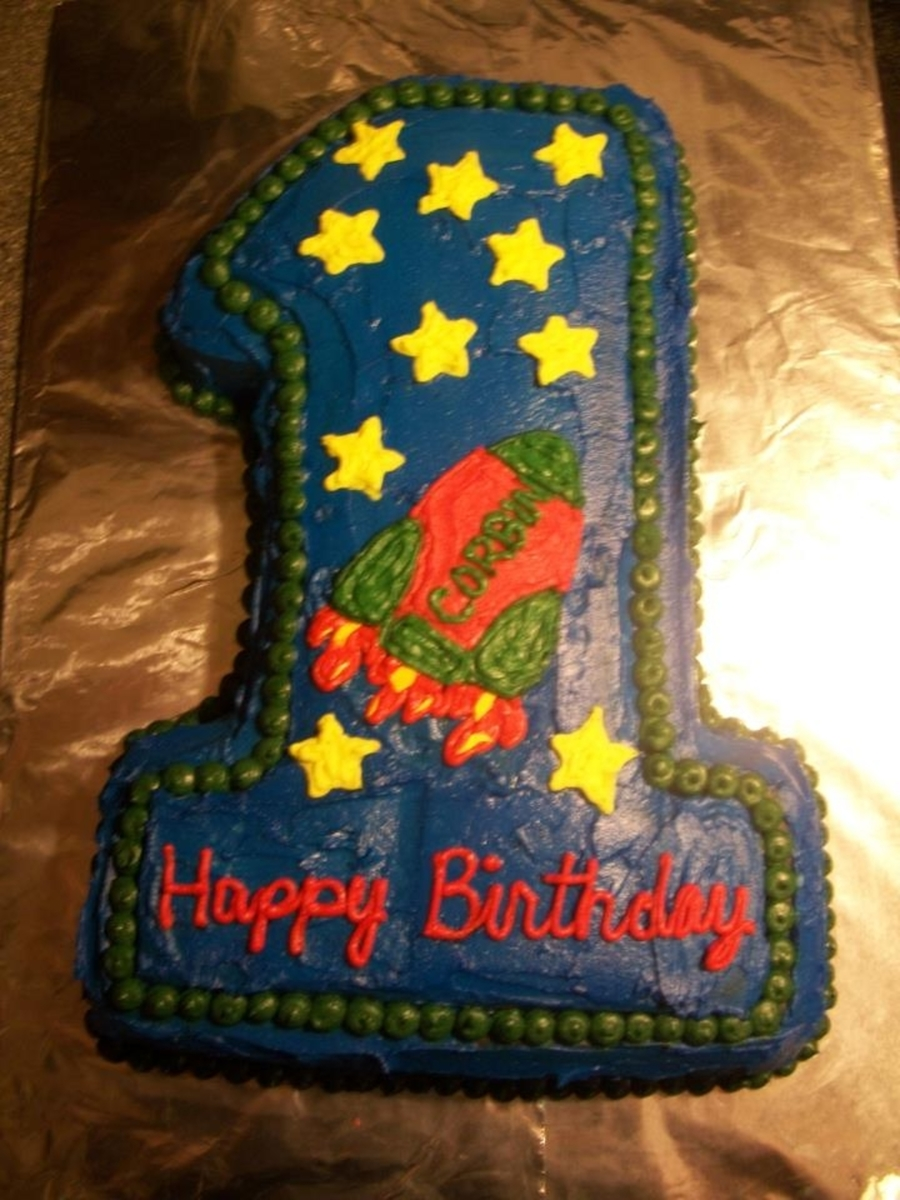 Stupendous My Sons Rocket Ship 1St Birthday Cake Cakecentral Com Funny Birthday Cards Online Bapapcheapnameinfo