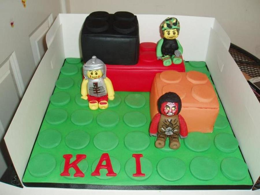 Lego Brick Cake With Lego Figures on Cake Central