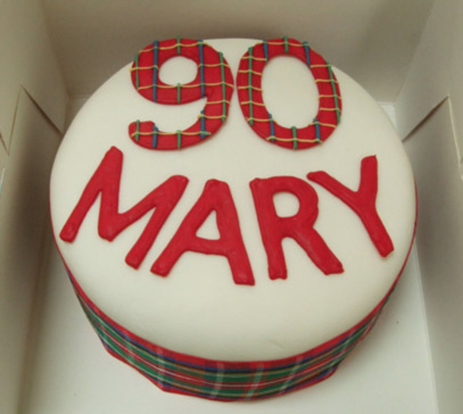 90Th Tartan Cake on Cake Central