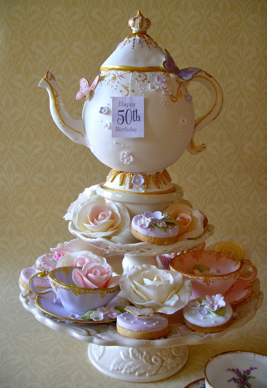 Teapot Cake Amp Cookies Cakecentral Com