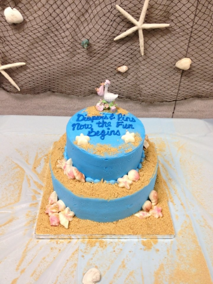 High Quality Beach Theme Baby Shower On Cake Central